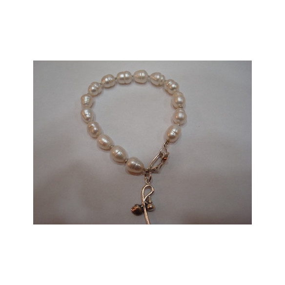 Pulsera de perlas naturales
