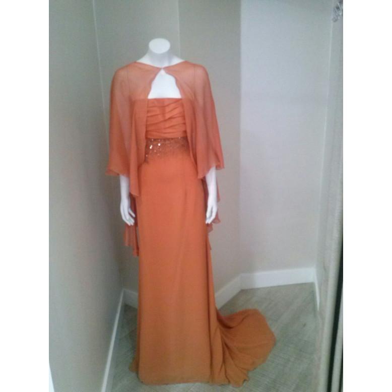 Vestido con capa AGUSTIN TORRALBO Naranja
