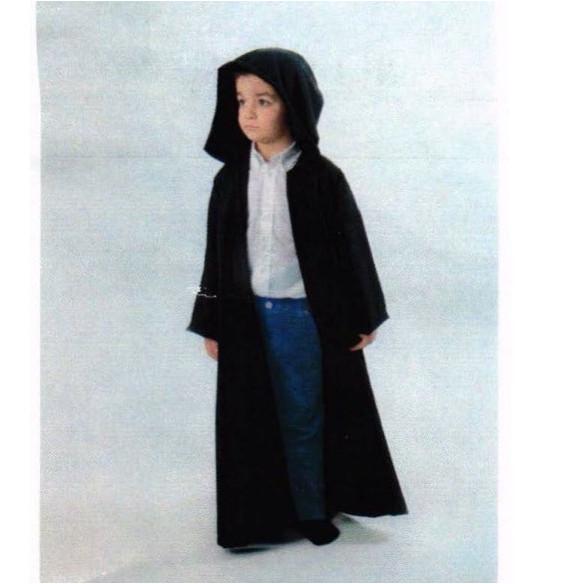 Disfraz  Túnica -capucha negra niño