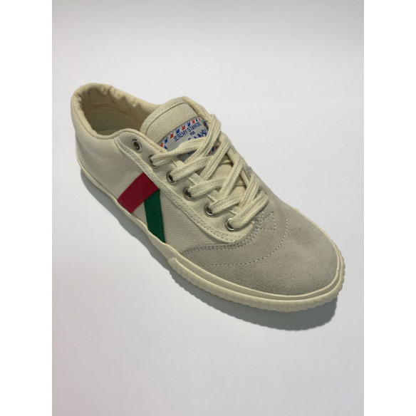 GANSO TIGRA CANVAS WHITE ITALY