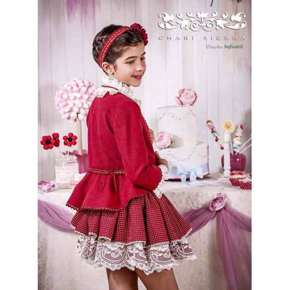 falda, camisa y chaqueta strawberry