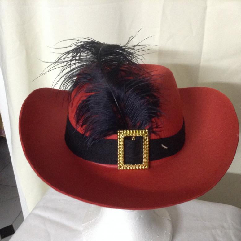 Sombrero  Mosquetero Adulto  Rojo