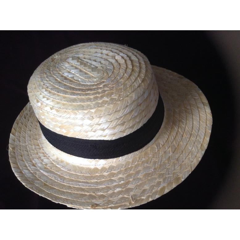 Sombrero Canotier adulto paja natural - Regalos de León - León de ... 600ee76d09f
