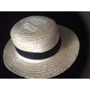 Sombrero  canotier paja natural