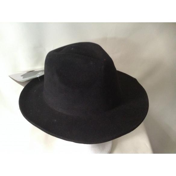 Sombrero Gangster Negro de terciopelo