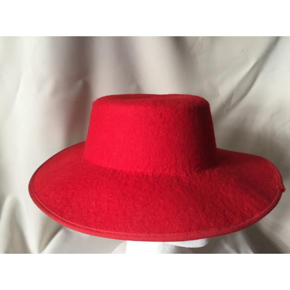 Sombrero  Fieltro. Rojo Adulto