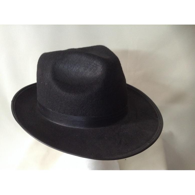 Sombrero  Gangster Adulto Negro