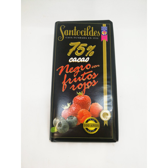 Chocolate Santocildes Negro con Frutos Rojos