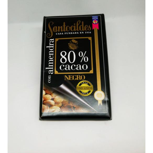 Chocolate Santocildes Negro con Almendras