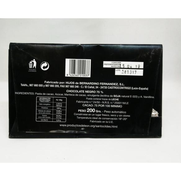 Chocolate Santocildes Negro 75 %