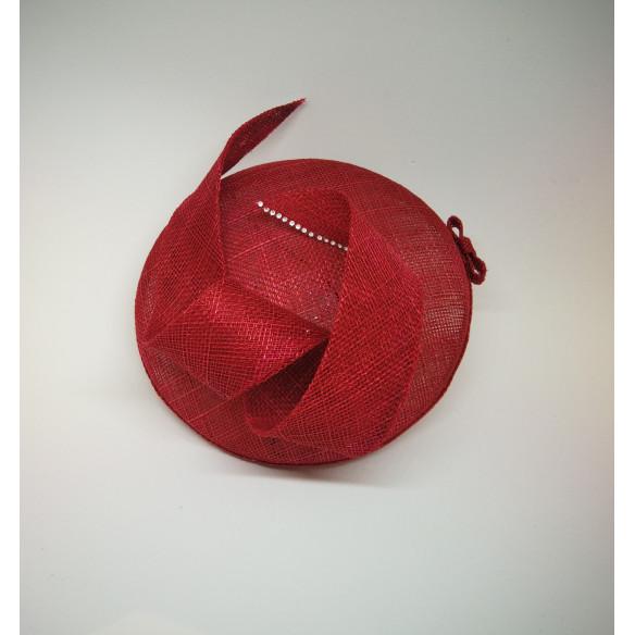 Tocado color cereza