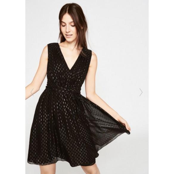 Vestido negro lurex Tara Jarmon