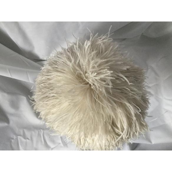 Casquete pluma beige vintage