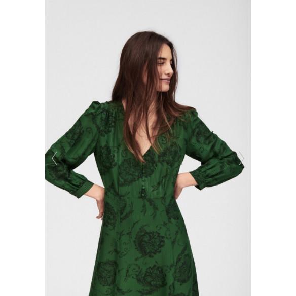 Vestido verde de seda