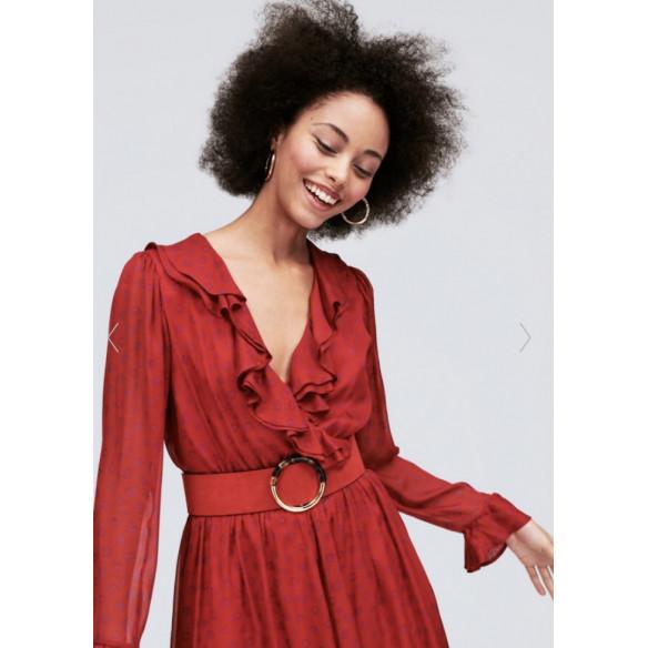 Vestido rojo animal print