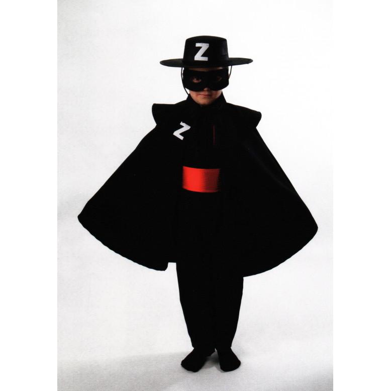 Disfraz infantil del Zorro