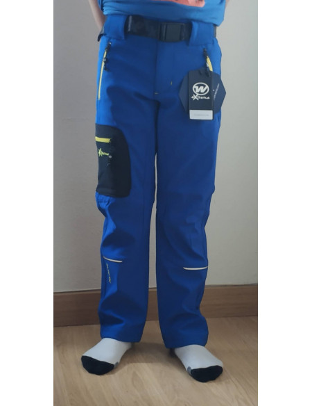 Pantalón trekking para niño azulón