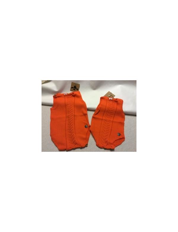 Ranita algodón  bebé color zanahoria