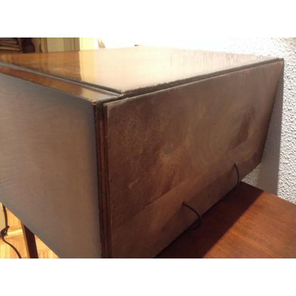 Tocadisco de  caja de madera años 50